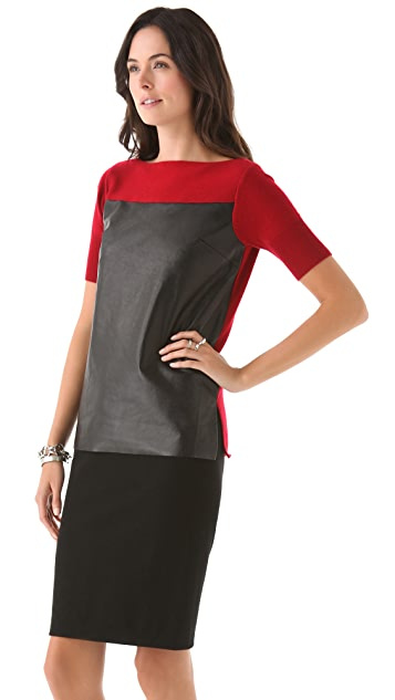 Robert Rodriguez Top with Contrast Leather
