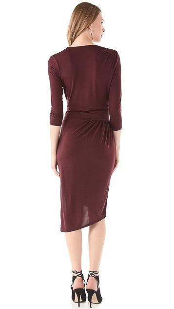 Robert Rodriguez Draped Asymmetrical Dress