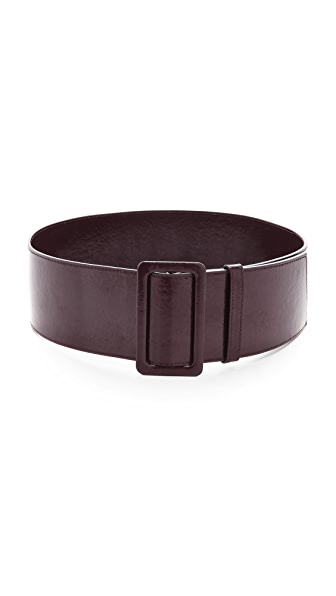 Robert Rodriguez Wide Patent Leather Belt
