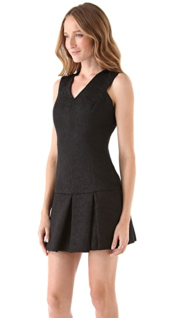 Robert Rodriguez Brocade Flare Dress