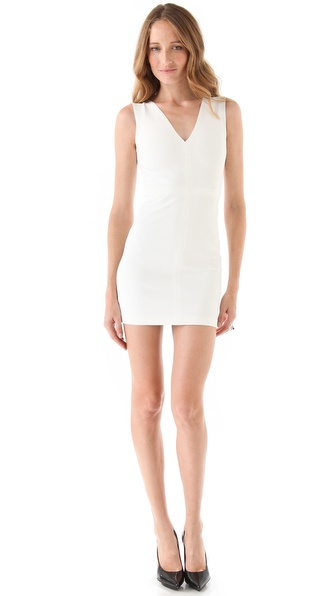 Robert Rodriguez Seamed V Neck Dress