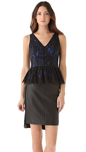 Robert Rodriguez Lace Peplum Top