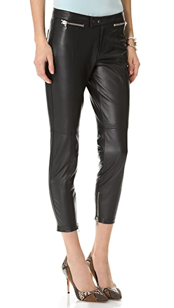Robert Rodriguez Slim Cropped Leather Pants