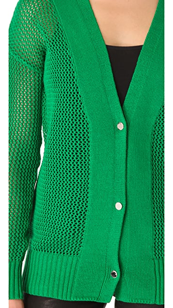 Robert Rodriguez Open Knit Long Cardigan