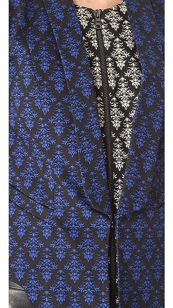 Robert Rodriguez Fleur de Lis Print Jacket