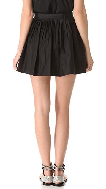 Robert Rodriguez Belted Pleated Skirt