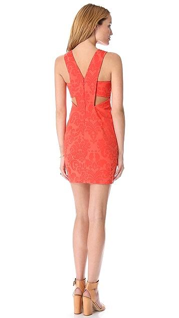 Robert Rodriguez Embossed Brocade Dress