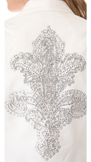 Robert Rodriguez Crystal Fleur de Lis Jacket