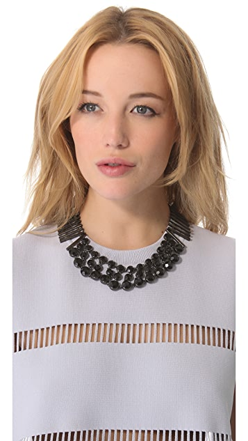 Robert Rodriguez Black Crystal Bar Collar