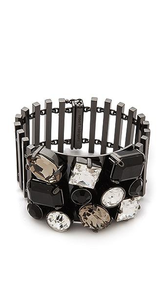 Robert Rodriguez Encrusted Bar Link Bracelet