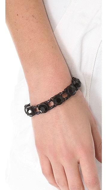 Robert Rodriguez Crystal Charm Bracelet