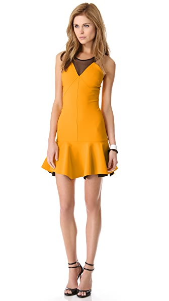 Robert Rodriguez Bonded Techno Flounce Dress