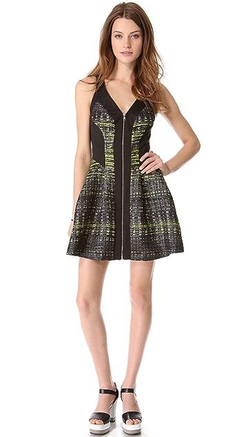 Robert Rodriguez Grid Print Dress