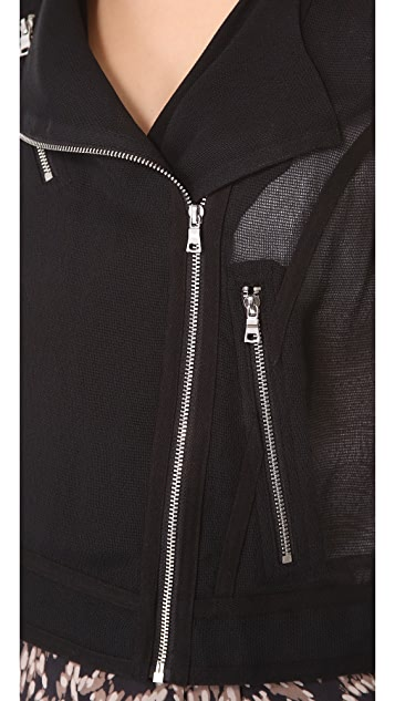 Robert Rodriguez Mesh Moto Jacket