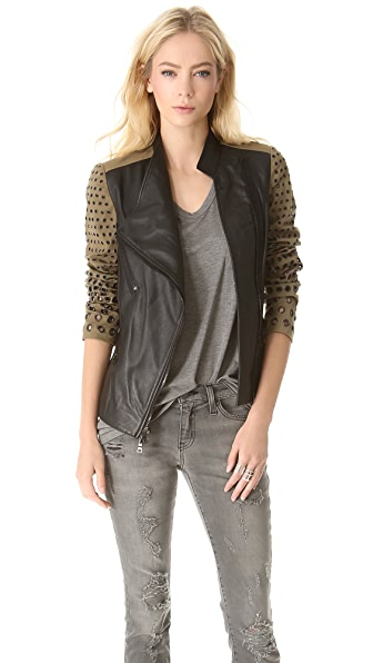 Robert Rodriguez Colorblock Grommet Jacket