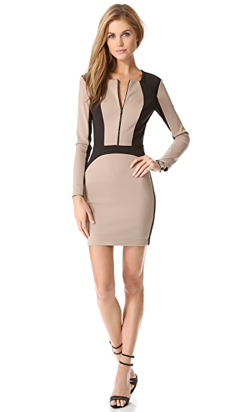 Robert Rodriguez Framed Neoprene Dress