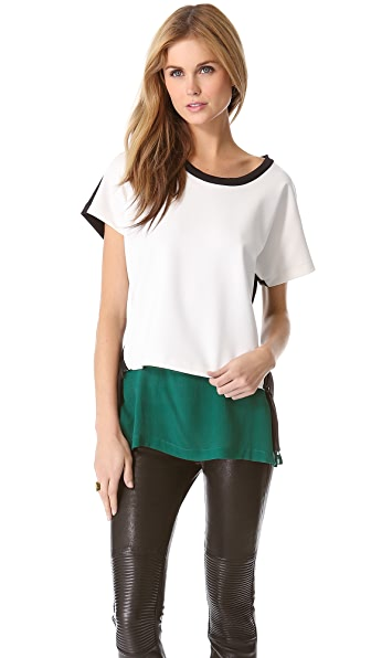 Robert Rodriguez Zip Neoprene Top