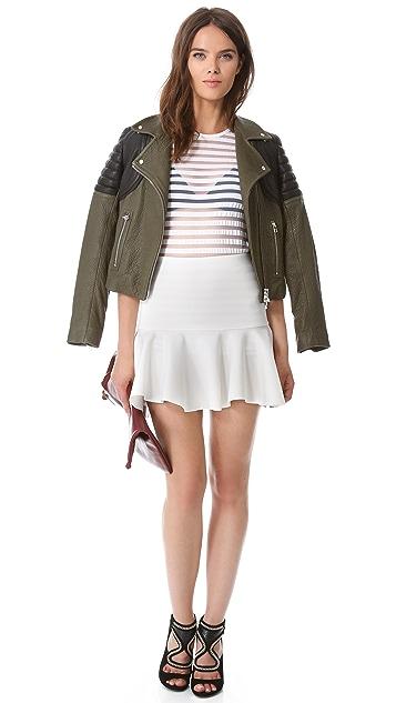 Robert Rodriguez Neoprene Flutter Skirt