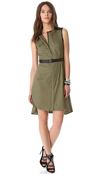 Robert Rodriguez Colorblock Shirttail Dress