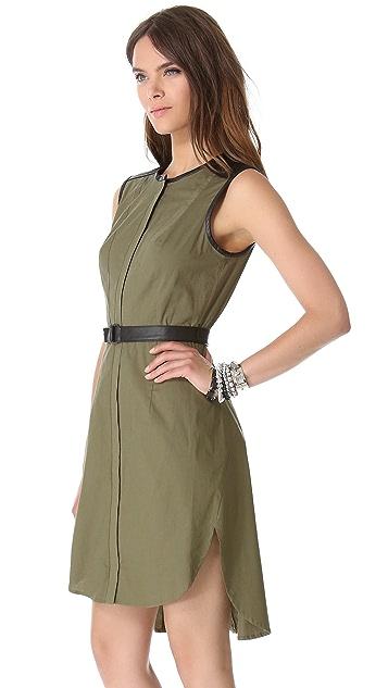 Robert Rodriguez Colorblock Shirttail Dress
