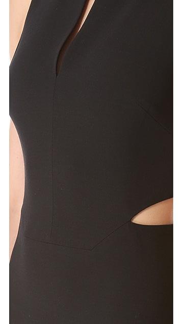 Robert Rodriguez Asymmetrical Cutout Dress