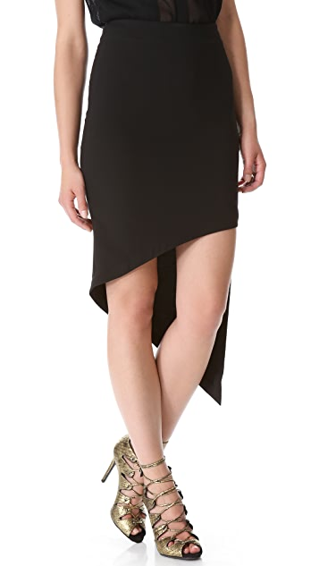 Robert Rodriguez Asymmetrical Skirt