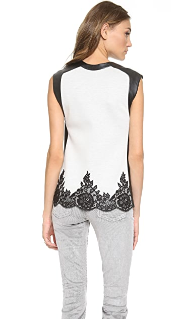 Robert Rodriguez Lace Applique Boxy Top