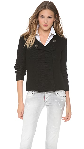 Robert Rodriguez Laminated Sweater Jacket