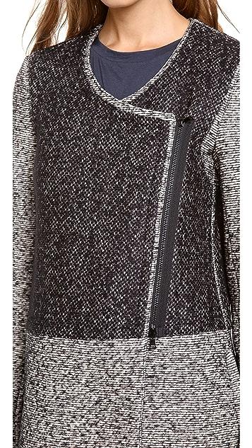 Robert Rodriguez Tweed Car Coat