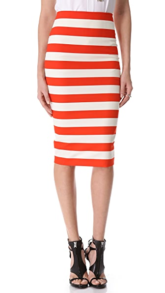 Robert Rodriguez Graphic Stripe Pencil Skirt