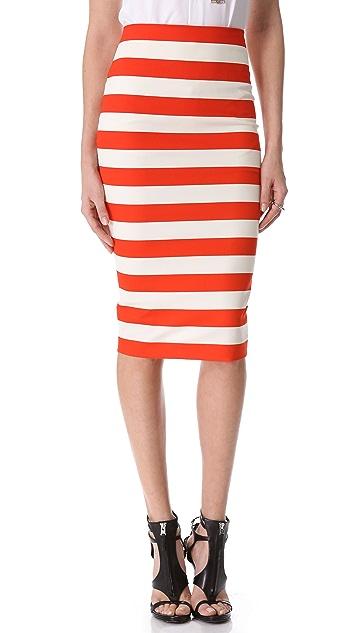 Robert Rodriguez Graphic Stripe Pencil Skirt