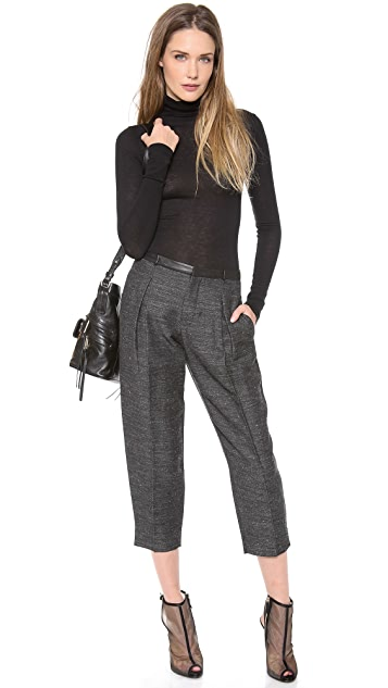 Robert Rodriguez Tweed & Leather Trousers