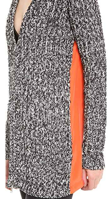 Robert Rodriguez Tweed & Silk Cardigan