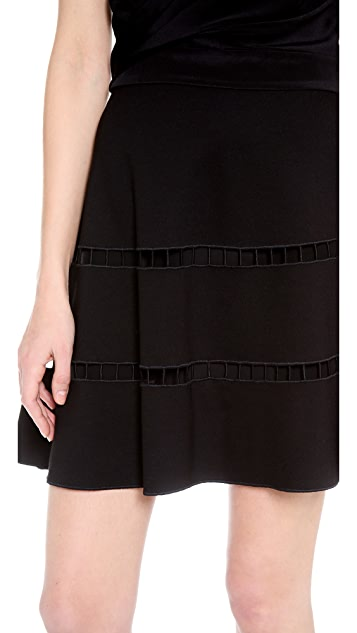 Robert Rodriguez Embroidered Skirt