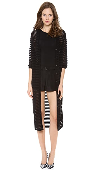 Robert Rodriguez Burnout Stripe Long Cardigan