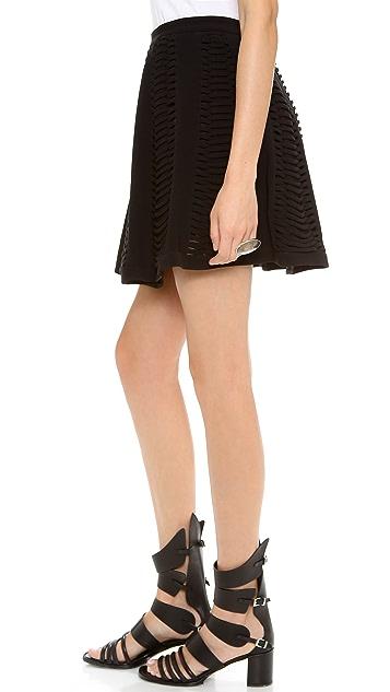 Robert Rodriguez Vertebrae Panel Skirt
