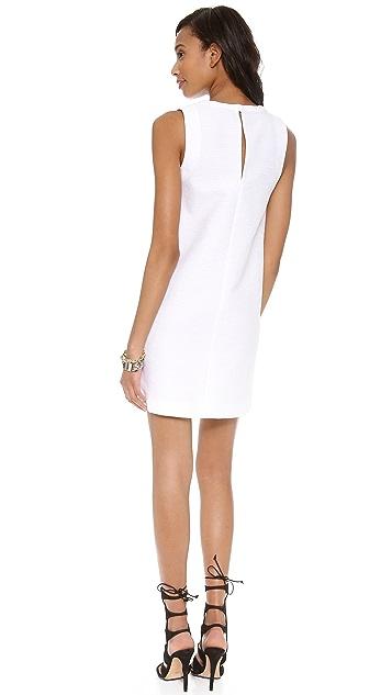 Robert Rodriguez Animal Jacquard Slip Dress