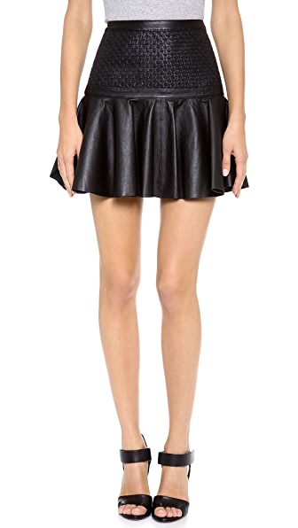 robert rodriguez weave leather skirt shopbop