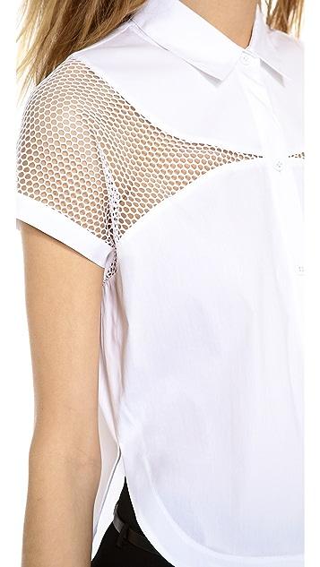 Robert Rodriguez Net insert Cropped shirt