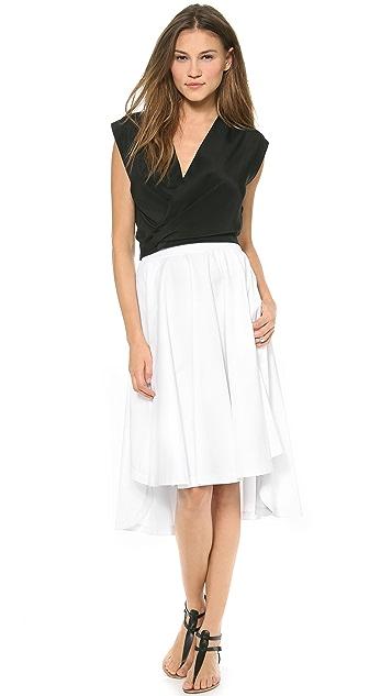 Robert Rodriguez Long Shirttail Skirt