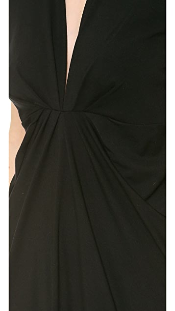 Robert Rodriguez Jersey V Neck Dress