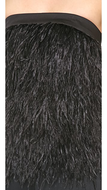 Robert Rodriguez Ostrich Feather Top