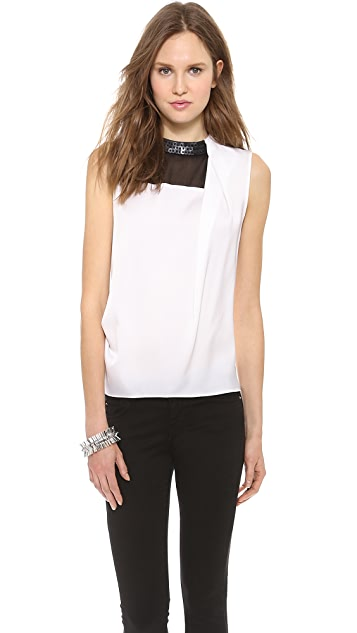 Robert Rodriguez Armor Beaded silk Top