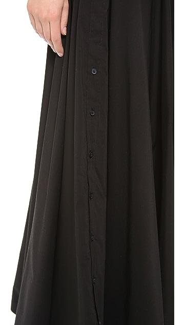 Robert Rodriguez Shirting Maxi Skirt