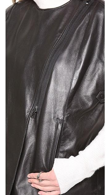 Robert Rodriguez Leather Cape