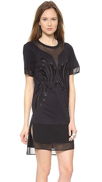 Robert Rodriguez Dandelion Embroidery Dress