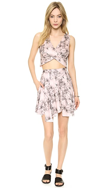 Robert Rodriguez Floral Flare Skirt