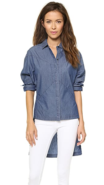 Robert Rodriguez Chambray Seamed Shirt