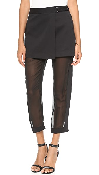 Robert Rodriguez Illusion Skirted Pants