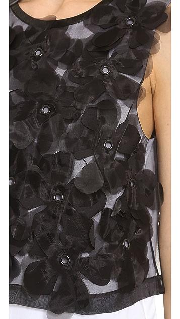 Robert Rodriguez Appliqued Flower Blouse